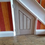 Bespoke Spandrel door in Oak