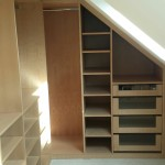 Beech Walk-in wardrobe in loft