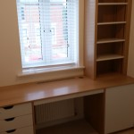 Bespoke Oak desk with shelving unit
