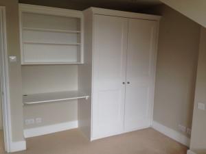 Wardrobe with Dest & Bookcase