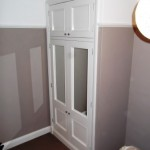 Wardrobe with solid doors