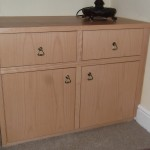 Recess Drawer unit in Beech
