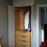 Wardrobe with Oak drawers