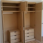 Wardrobe with Routered panelling Internal