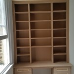 Bookcase with Desk with soft close drawers