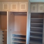 Staggered Wardrobe with Linen Cupboard Internal