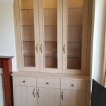 Oak Veneered display cabinet
