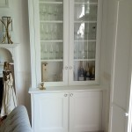 Period bookcase with glass doors